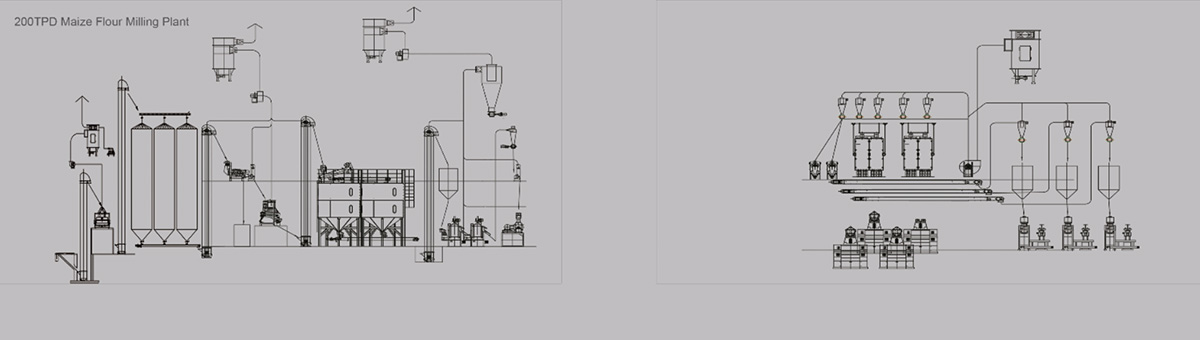 Complete Set of Maize Flour Milling Plant(Machine)