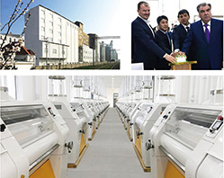 In 2017 Tajikistan 500Tlarge automation flour production line smoothly go into production.