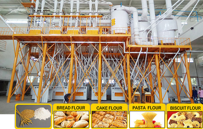 The Working Principle of the Wheat Flour Mills Machine